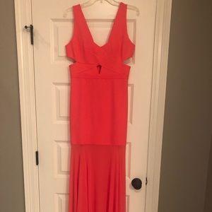 BCBG Joy cut out gown
